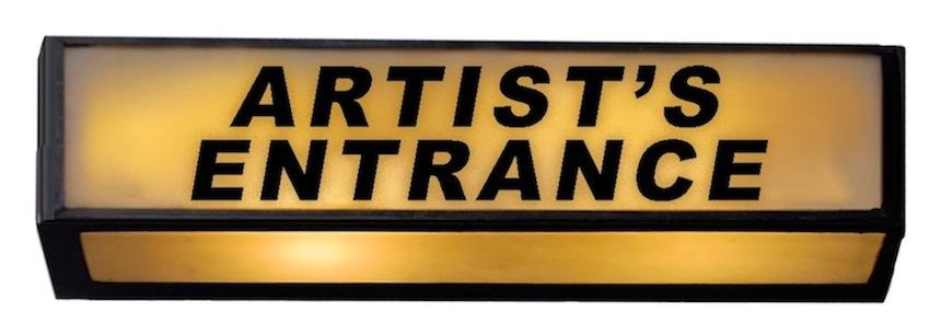 Illustrated logo for Artist's Entrance