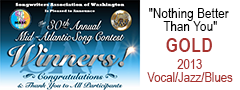 logo art from 30th Annual Mid-Atlantic Song Contest Tracy Newman winning Gold for Nothing Better Than You in 2013