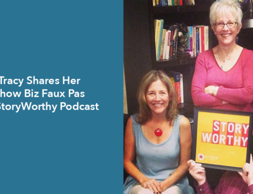 Tracy Shares Her Show Biz Faux Pas on StoryWorthy Podcast