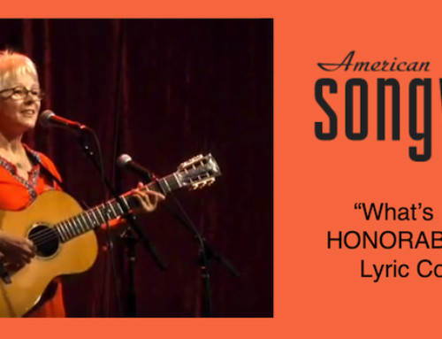 Tracy Receives Honorable Mention in American Songwriter Magazine Lyric Contest